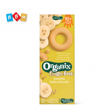 Organix finger foods banana baby biscuits