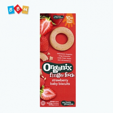 Organix finger foods strawberry baby biscuits