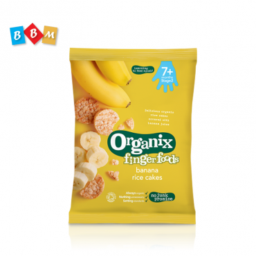 Organix finger foods banana rice cakes