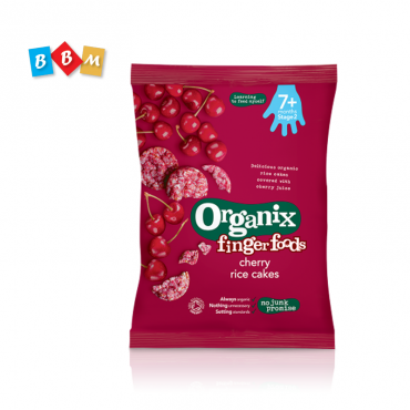 Organix finger foods cherry rice cakes