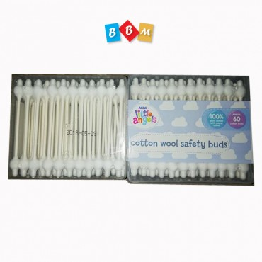 ASDA little Angels cotton wool safety buds