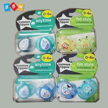 tommee tippee 2 soothers  0-6 month