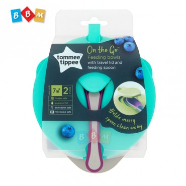 Tommee tippee on the go Feeding bowls 2pcs with spoon