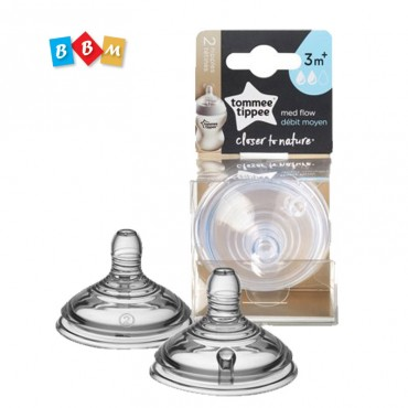 tomme tippee 3m+ 2x med flow teats nipple