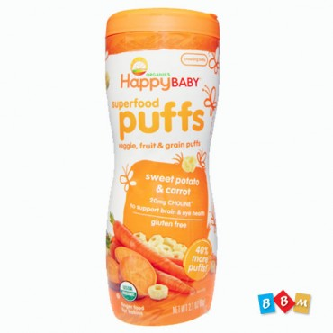 Happy Baby Puffs Sweet Potato & Carrot