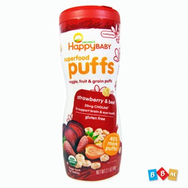 Happy Baby Puffs Strawberry & Beet