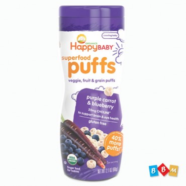 Happy Baby Puffs  purple Carrot & blueberry