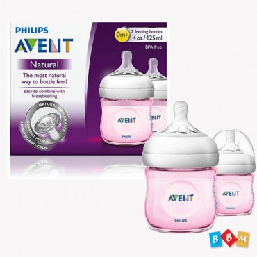 AVENT Natural Feeder 125ml pink SCF691/23