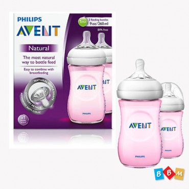 AVENT Natural Feeder 260ml Pink SCF 694/23