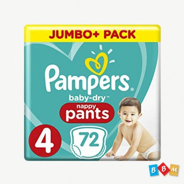Pampers Baby dry Pant Jambo 4     72 Pcs