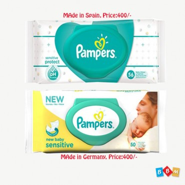 Pampers New baby Sensitive Wipes   50 pcs