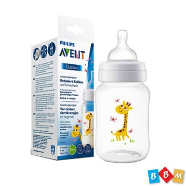 Avent Philips Classic Flasher 260 ml Giraffe