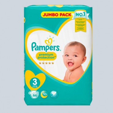 Pampers premium protection3 jumbo 66pcs