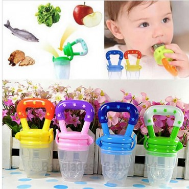 Baby Bite Pacifier Nipple Feeder Fresh Food Fruits Juice Bottle Feeding Tools feeder  Green