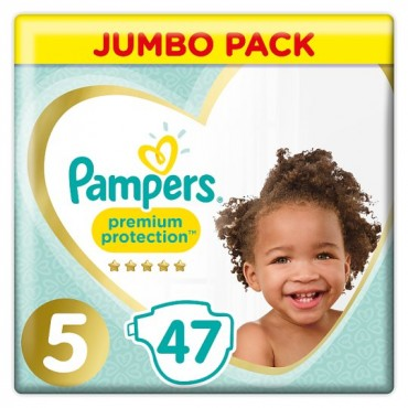 pampers premium protection size 5 jumbo pack