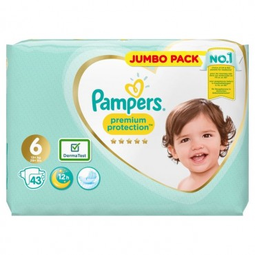 pampers premium protection size 6 jumbo pack