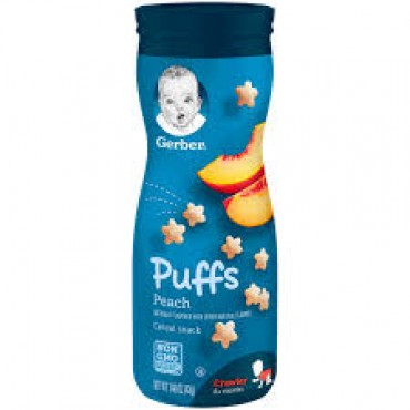 Gerber puff peach cereal snack