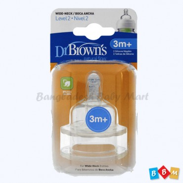 Dr. Brown's natural flow nipple 3m+