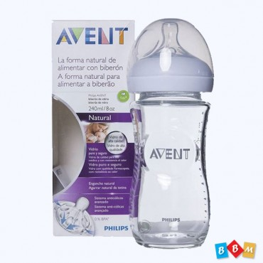 Avent natural 240ml glass bottle