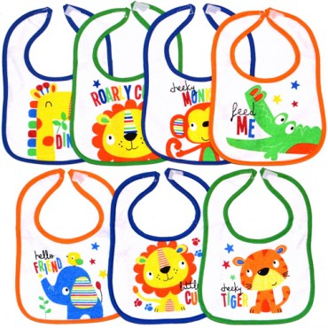 Lily & Jack 7 pack Bib Flower