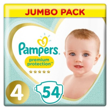Pampers Premium protection size 4 jumbo (54p)