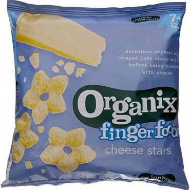 Organix finger foods cheese stars