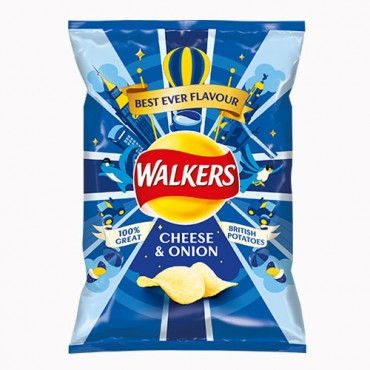 Walkers Cheese & Onion potato crips