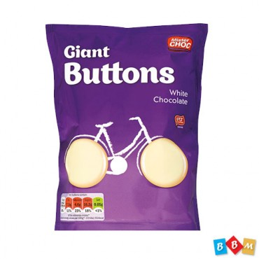 Mister Giant Buttons White chocolate