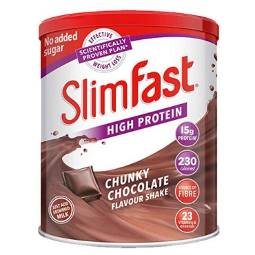 Slim Fast Chunky Chocolate Flavour  Shake Mix