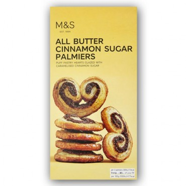 M&S All Butter Cinnamon Sugar Palmiers