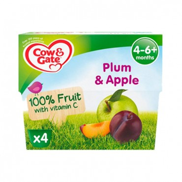 Cow & Gate Plum & Apple  4-6 m