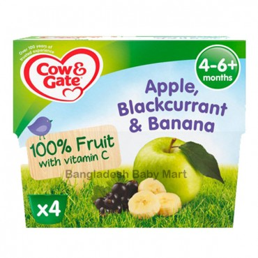 Cow & gate APple Blackcurrant & banana  4-6 m