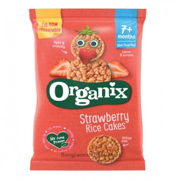 Organix Strawberry rice Cakes  7m+